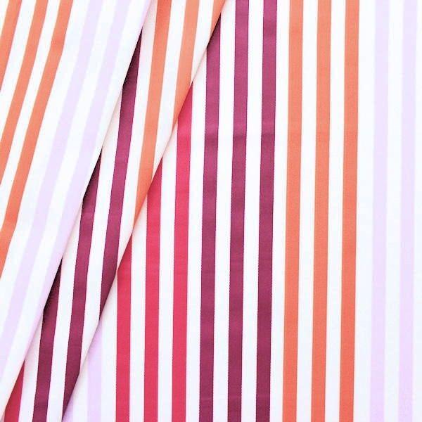 Dekostoff Streifen Lila-Violett Orange