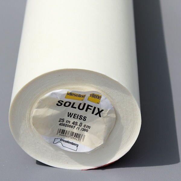 Vlieseline Solufix Vlies 45cm selbsthaftend wasserlöslich Farbe Weiss