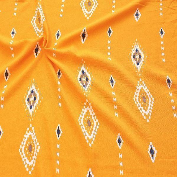 Viskose Musselin Mexiko Style Safran-Gelb