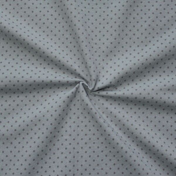 "Baumwoll Stretch Jersey ""Punkte klein 2"" Farbe Grau Dunkel-Grau"