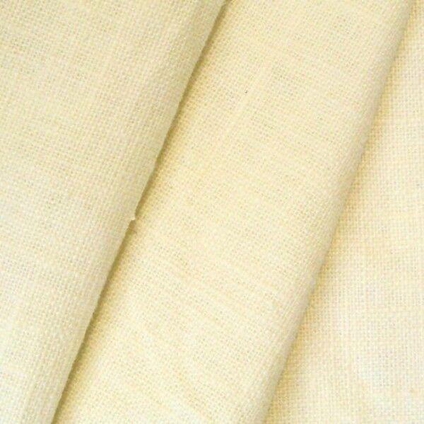 100% Leinen Stoff Artikel Barcelona, Farbe Creme-Weiss
