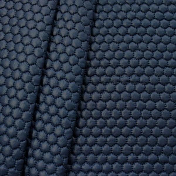 """Steppstoff wattiert """"Waben klein"""" Farbe Navy-Blau"""