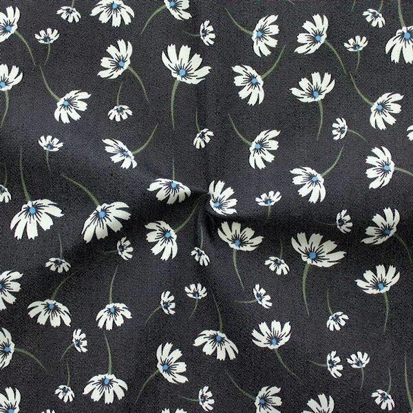 Stretch Denim Jeans Blütentraum Schwarz
