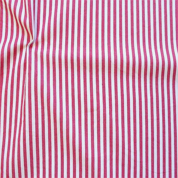 Baumwolle Denim Jeans Stoff Streifen Mittel Pink-Weiss