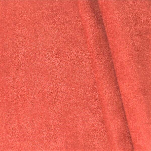 Microfaser Polster- Möbelstoff Korallen-Rot