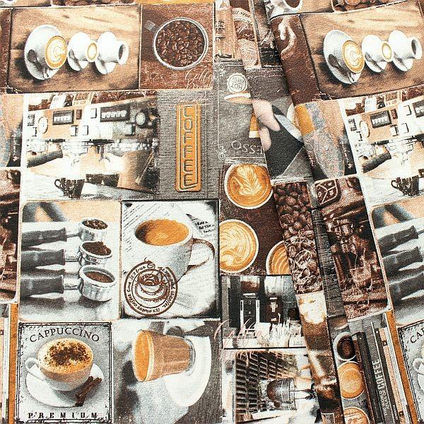 Dekostoff Coffee Braun-Multicolor