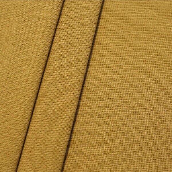 Baumwoll Bündchenstoff glatt Curry-Gelb