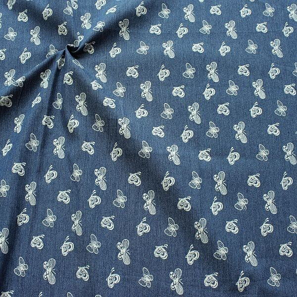 Stretch Denim Jeans Schmetterlilgs Mix Jeans-Blau
