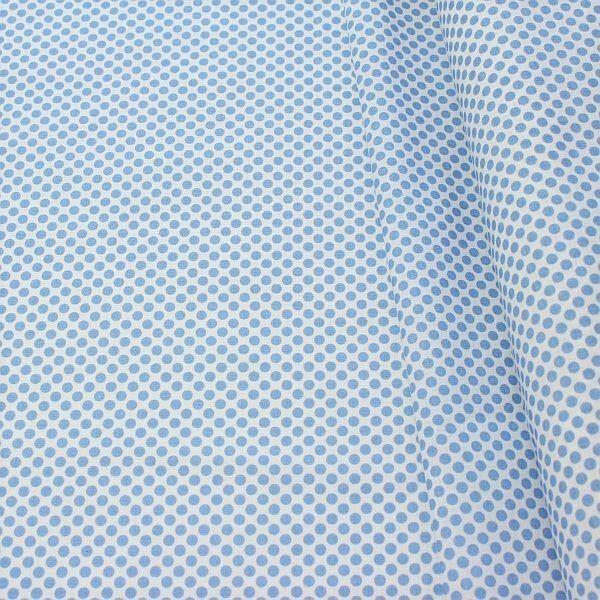 Baumwollstoff Dots Weiss-Blau