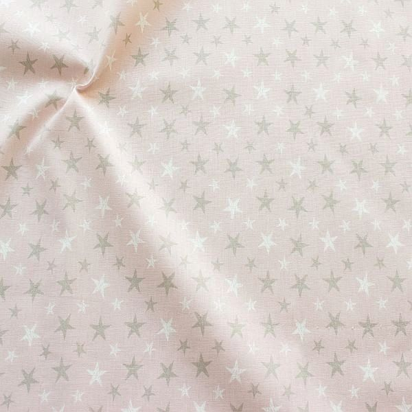 Baumwollstoff Sterne Mix Pastell-Rosa