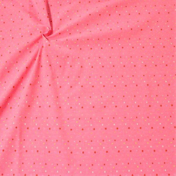 Baumwoll Stretch Jersey Konfetti Dots  Rosa