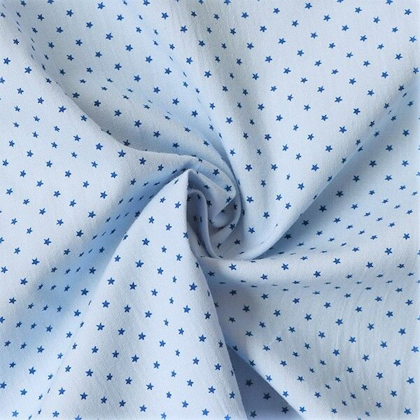 Baumwollstoff Sterne mini Hell-Blau