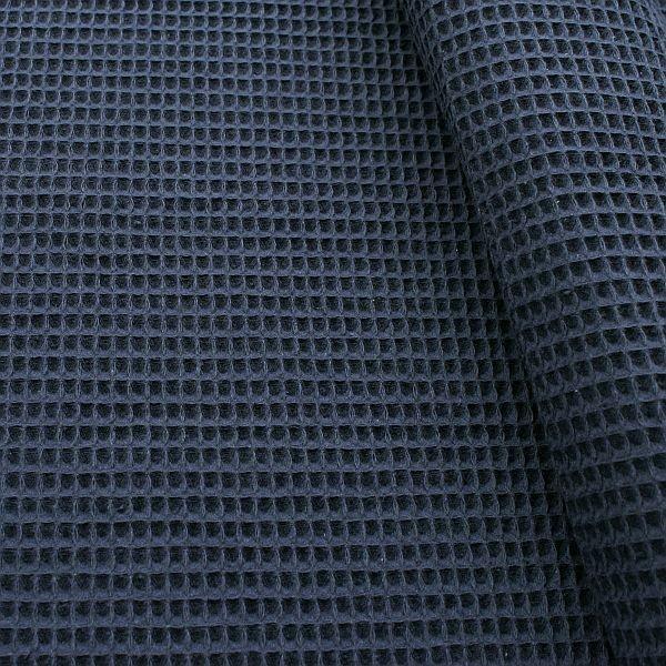 Baumwoll Waffel Piqué Dunkel-Blau