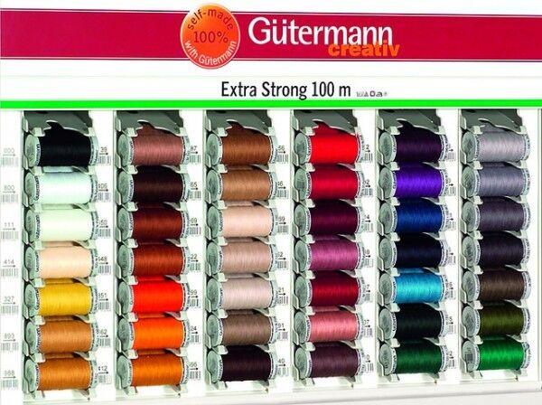 Gütermann Garne Extra Stark Diverse Farben - passende Farbe
