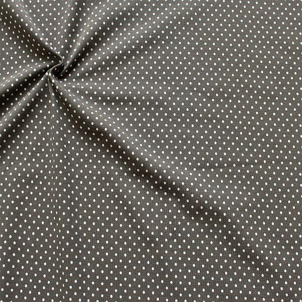 Baumwoll Stretch Jersey Punkte Klein Grau