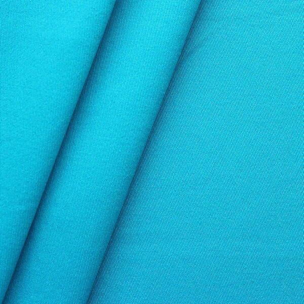 "100% Baumwoll Köper ""Fashion Standard"" Farbe Azur-Blau"