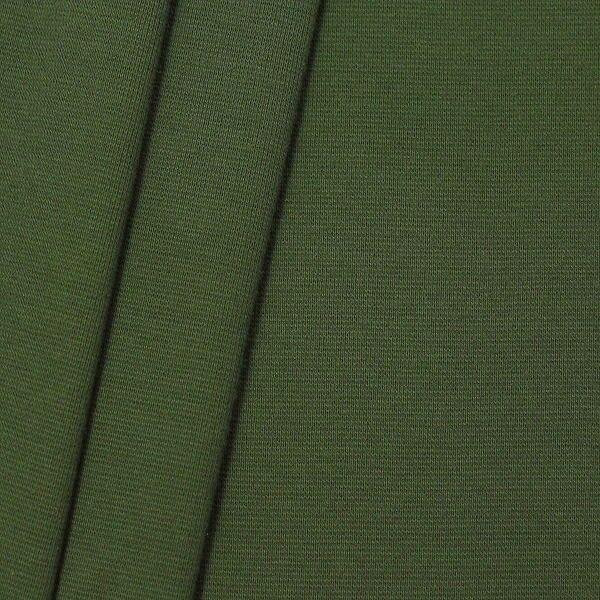 "Baumwoll Bündchenstoff ""glatt 2"" Farbe Oliv-Grün"