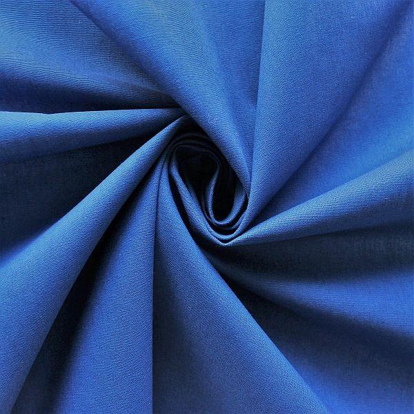 Baumwolle Popeline Royal-Blau