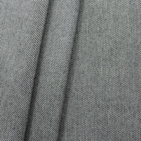 Indoor- / Outdoorstoff Panama Bindung Farbe Schwarz-Grau meliert