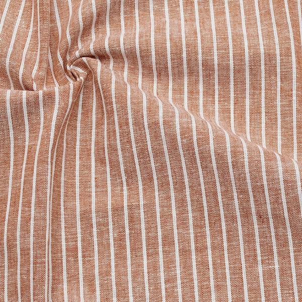 Leinen-Baumwolle Streifen Terrakotta