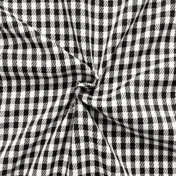 """Modestoff / Dekostoff """"Vichy Karo Groß"""" Farbe Schwarz-Weiss"""