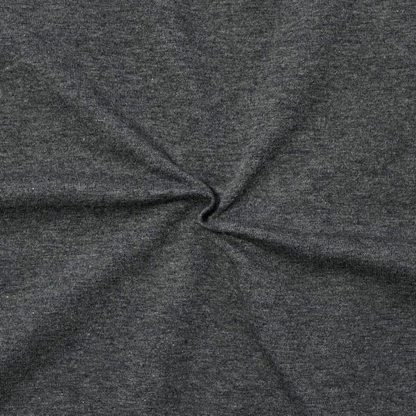 """Sweatshirt Baumwollstoff French Terry """"Fashion Basic 2"""" Farbe Dunkel-Grau meliert"""