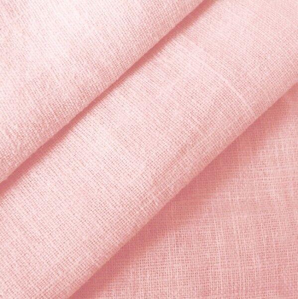 100% Leinen Stoff Artikel Barcelona, Farbe Hell-Rosa