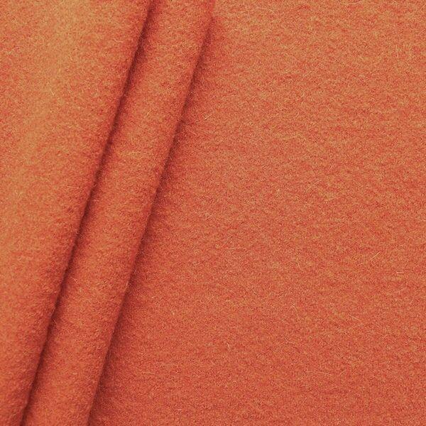 100% Wolle Walkloden Farbe Orange