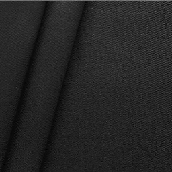 "100% Baumwoll Köper ""Fashion Standard"" Farbe Schwarz"