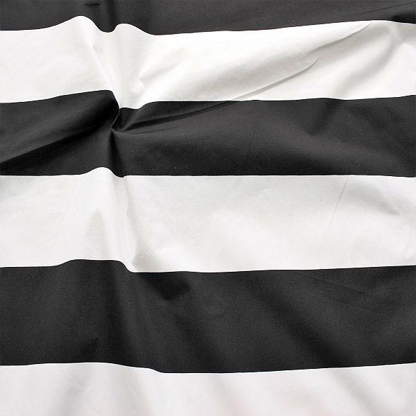 Polyester Anorak Outdoorstoff Blockstreifen Schwarz-Weiss