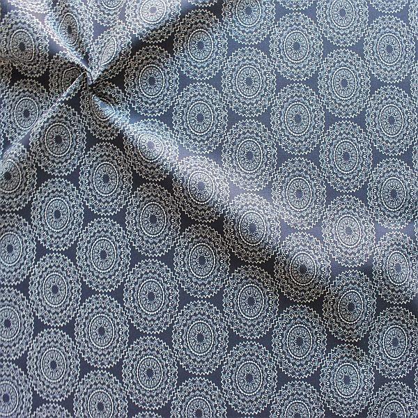 Baumwollstoff Mandala Gipsy Dunkel-Blau
