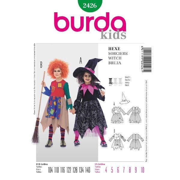 Burda 2426 Schnittmuster für Karneval und Halloween Hexe
