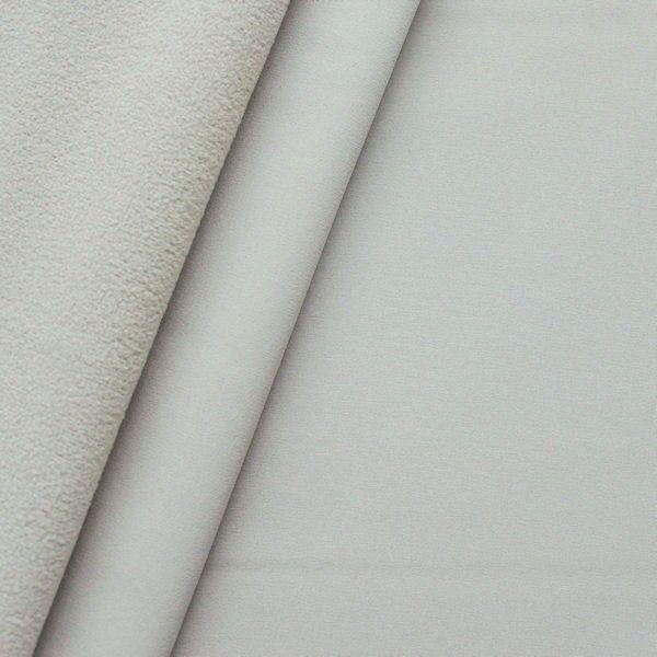 Softshell Fleece Stoff Farbe Beige-Grau