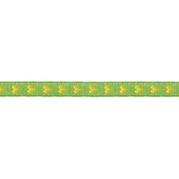 Prym Borte mit Herz 10mm x 2m (Breite / Länge) grün / gelb