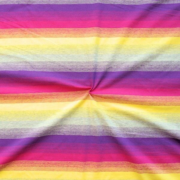 "Baumwoll Stretch Jersey ""Stripe in Stripe"" Farbe Lila-Multicolor"