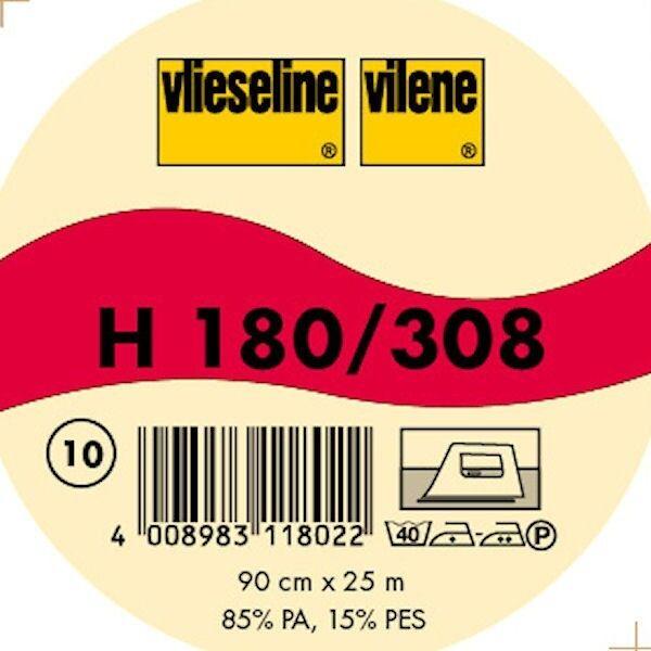 Vlieseline weiche leichte fixierbare Bügeleinlage Typ H 180 / 308 Farbe Weiss