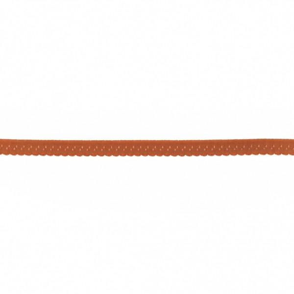 Elastisches Schrägband 12mm Bogenkante Rost-Rot