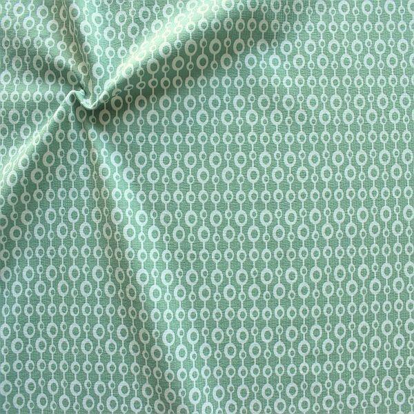Baumwoll Stretch Jersey Kreis-Ketten Mint-Grün