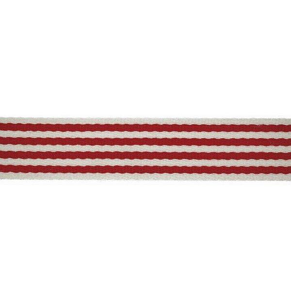 Taschenband Gurtband 40mm Rot-Weiss