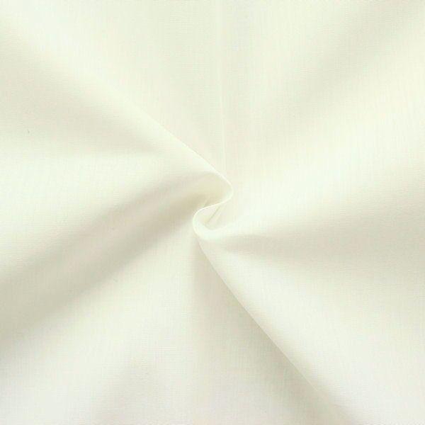 Baumwolle Polyester wie Batist Farbe Creme-Weiss