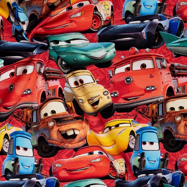 Lizenz Baumwoll Stretch Jersey Cars Groß Multicolor