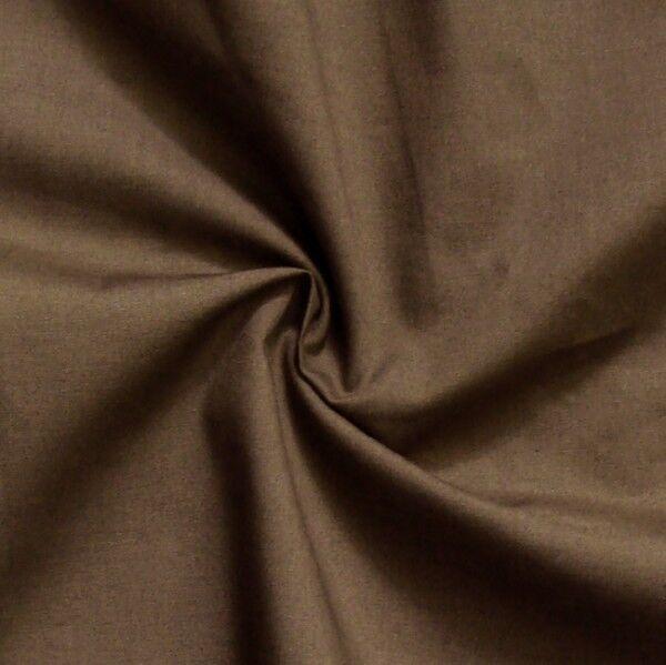 Baumwolle Polyester wie Batist Farbe Braun