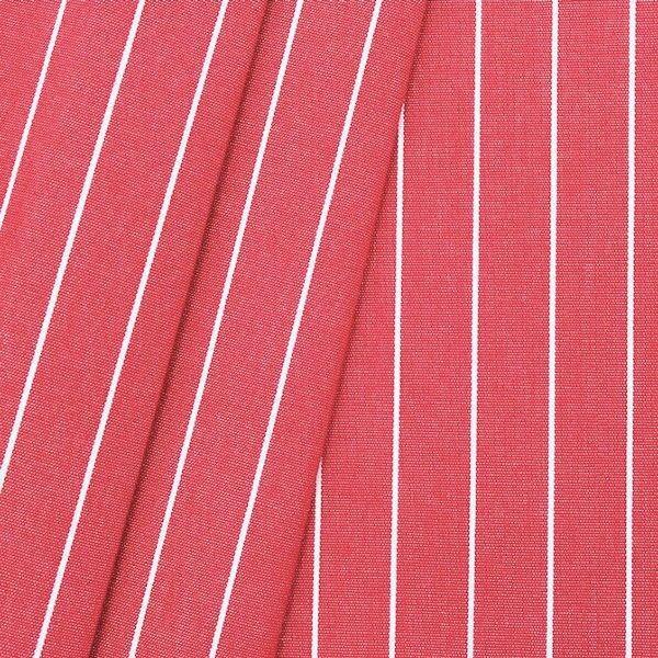 "Deko / Outdoorstoff ""Streifen fein"" Farbe Rot melange"