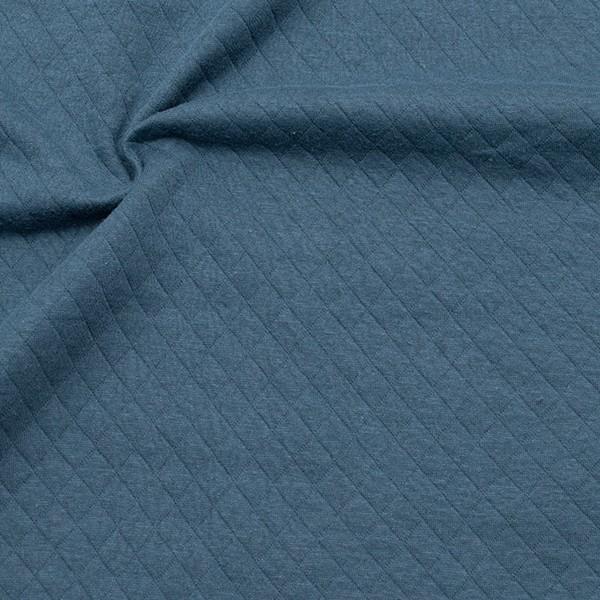 Modestoff Dekostoff Stepp-Optik Rauten Klein Blau