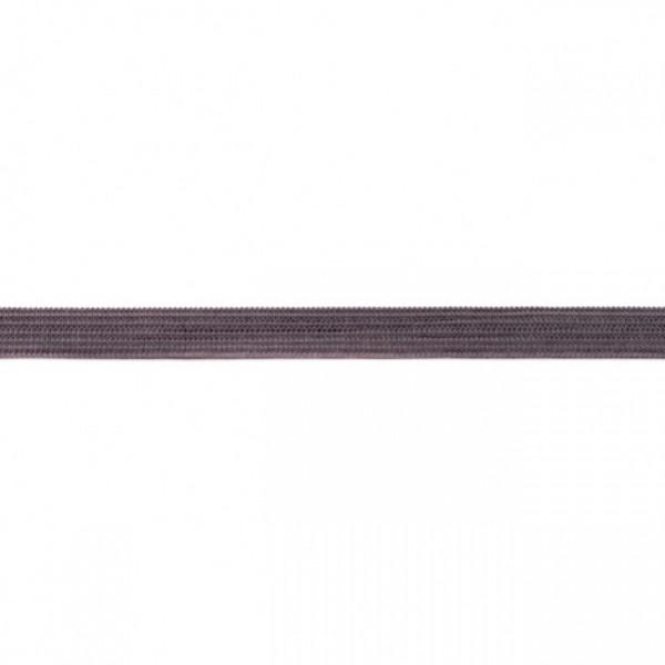 2m Elastikband Breite 10mm Farbe Dunkel-Grau
