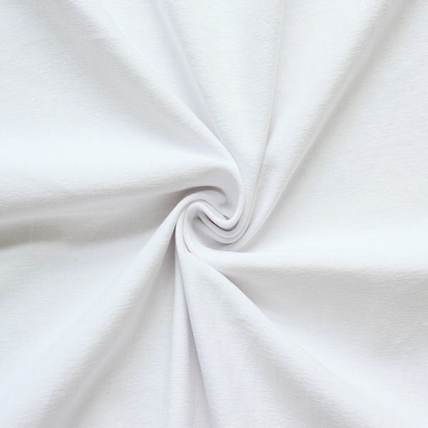 "Baumwoll Stretch Jersey ""Basic 2"" Farbe Weiss"