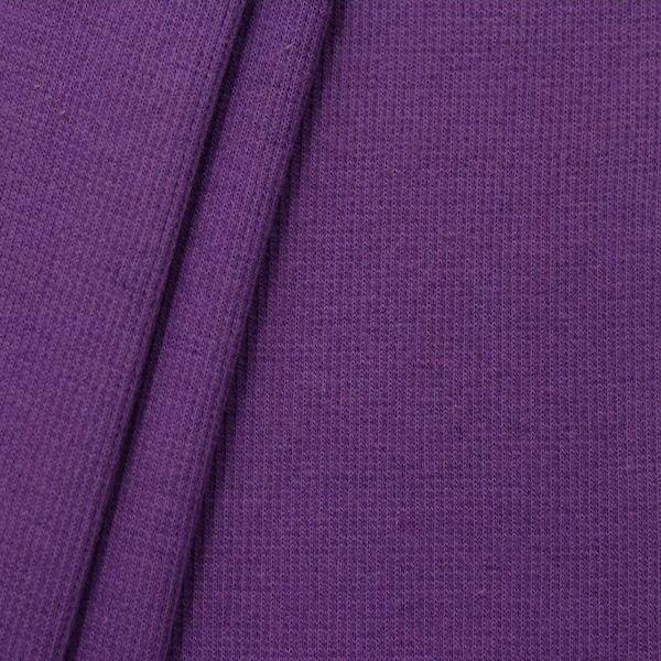 Baumwoll Bündchenstoff Farbe Lila-Violett