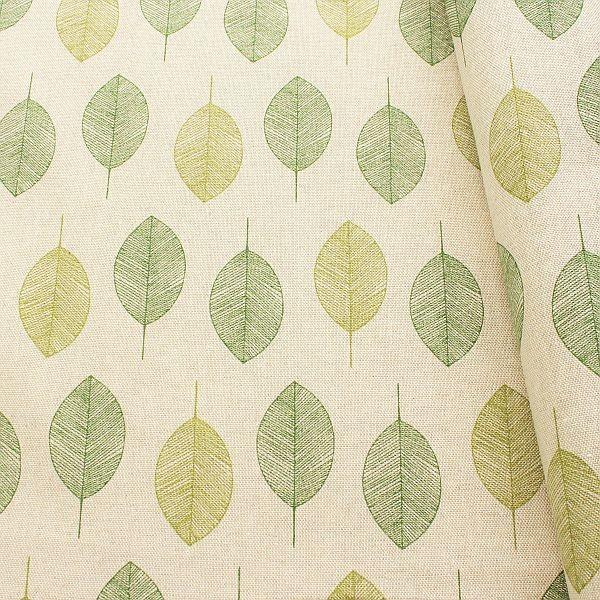 Dekostoff Blätter Natur-Grün
