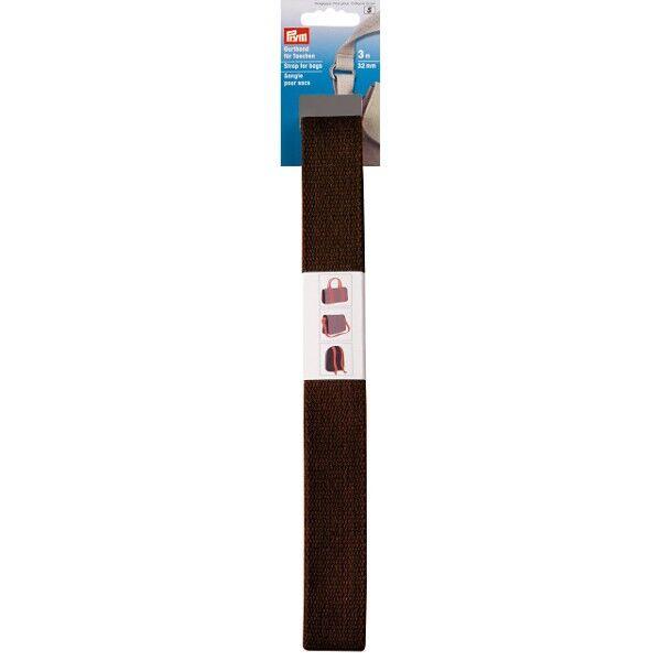 Prym 3m Gurtband für Taschen, 30mm, Dunkel Braun