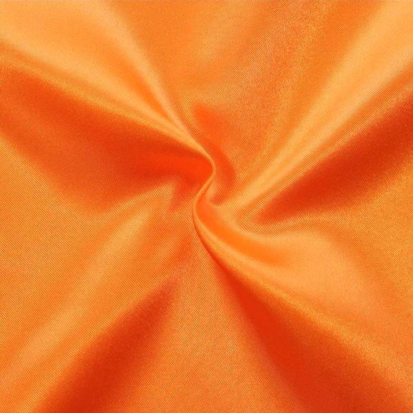 Satin Stoff Farbe Orange